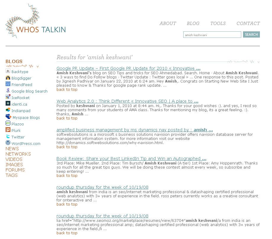 Social Media Monitoring Site